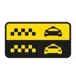 taxi icon Taxi car sign vector image