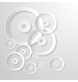Abstract Paper Circle Background vector image vector image