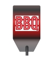 Barbecue hot metal spatula isolated on white vector image vector image