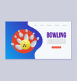 bowling web template ball vector image
