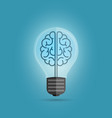 bulb brain vector image vector image