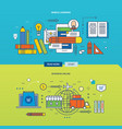 business on the internet and mobile learning vector image vector image