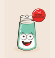 cartoon of a funny salt vector image vector image