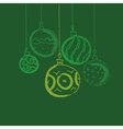 CHristmas bauble background Seasonal winter vector image