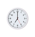 circle white watch mockup isolated 7 oclock vector image