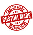 custom made round red grunge stamp vector image vector image