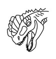 dilophosaurus icon doodle hand drawn or black vector image vector image