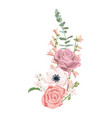 drawing flowers composition vector image vector image