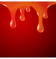 Drips Abstract Background Orange Red vector image