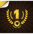 First Place Gold Medal Theme on Dark Background vector image vector image