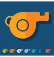 Flat design whistle vector image vector image