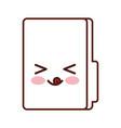 folder file kawaii character vector image vector image
