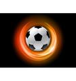 football neon light dark orange vector image vector image