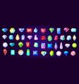 gems diamond and ruby precious stones vector image vector image