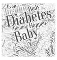 Gestational Diabetes What Happens after the Baby vector image vector image