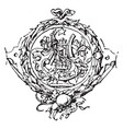goethes work symbol from a title to an edition vector image vector image