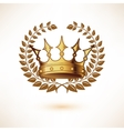 Golden Royal Crown isolated on white vector image