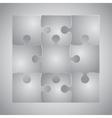 Grey Puzzles Piece JigSaw - 9 Pieces vector image vector image
