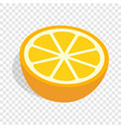 half of orange isometric icon vector image vector image