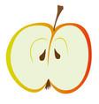 half red apple vector image vector image