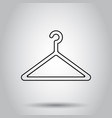 hanger icon in line style on isolated background vector image vector image
