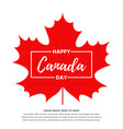 happy canada day banner vector image