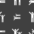 happy family icon sign Seamless pattern on a gray vector image vector image