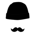 Hat and mustache vector image vector image