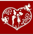 Heart with couple inside vector image vector image