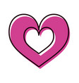hearts icon symbol of love on valentines day vector image vector image