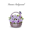 holiday background with basket full of beauty vector image
