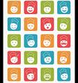 icons set 20 chef color in square vector image vector image