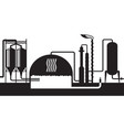 industrial biogas plant vector image vector image