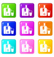 juicer icons 9 set vector image vector image