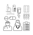 line medical icon vector image