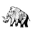 mammoth engraving vector image