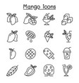 mango icon set in thin line style vector image vector image