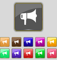 megaphone icon sign Set with eleven colored vector image