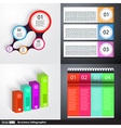 Modern business infographics set vector image