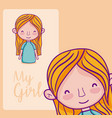 my girl cartoon vector image vector image