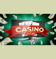 online casino banner realistic computer vector image vector image