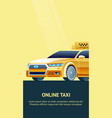 online taxi service banner vector image
