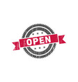 open stamp seal label logo vector image vector image