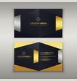 premium luxury business card design template vector image vector image