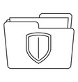 protected folder icon outline style vector image vector image