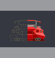 racing car modern style polygonal and linear vector image