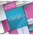 Script icon symbol Flat modern web design with vector image