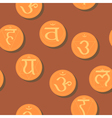seamless background with names of chakras vector image vector image