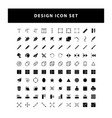 set editing design icon with glyph style design vector image vector image