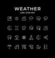 set line icons of weather vector image